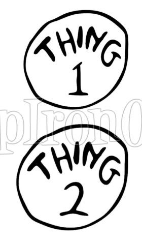 Thing 1 And Thing 2 Logo