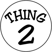 218x220 Dr. Seuss Thing 2 Halloween Or Everyday Logo Iron On Transfer