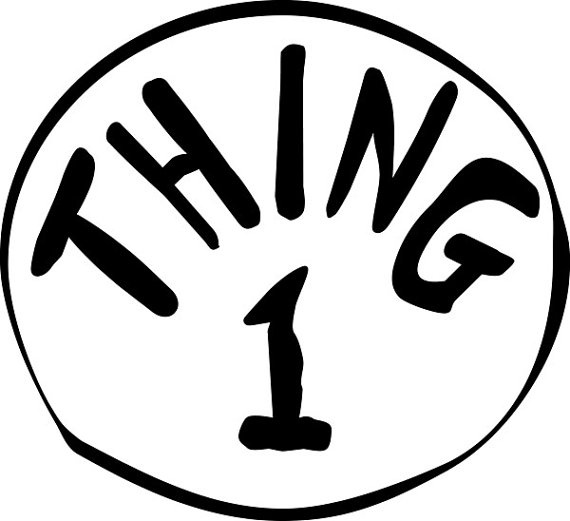 photo about Thing 1 and Thing 2 Printable Iron on Transfer named Point 1 And Matter 2 Brand No cost down load most straightforward Detail 1 And