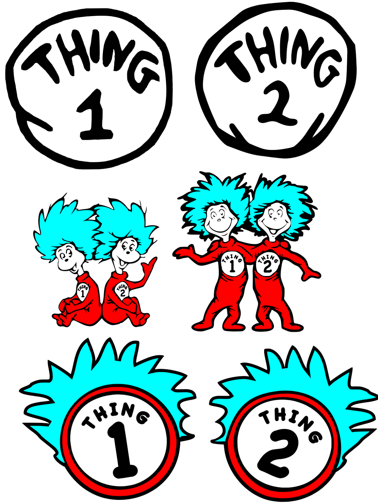 thing 1 and thing 2 printable free download best thing 1 and thing 2 printable on. Black Bedroom Furniture Sets. Home Design Ideas