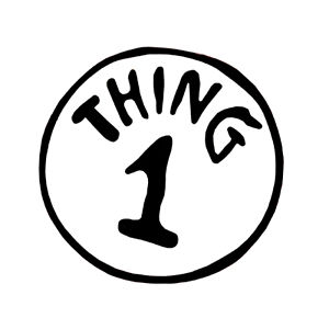 image relating to Thing 1 Logo Printable named Point One particular And 2 Absolutely free obtain least difficult Point Just one And 2 upon