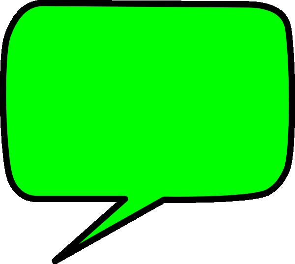 600x537 Green Speech Bubble Clip Art