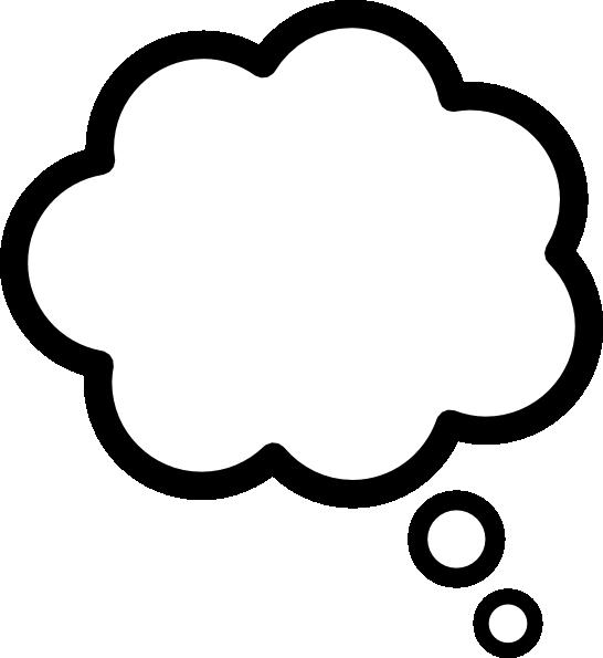 546x595 Thought Cloud Clip Art