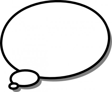 425x351 Person Thinking With Thought Bubble Free Clipart Image