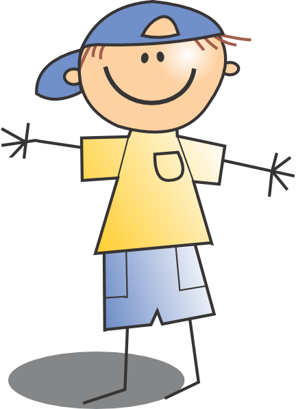432x598 Kid Wearing Cap Clip Art