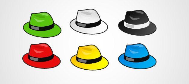 627x281 6 Thinking Hats Clipart