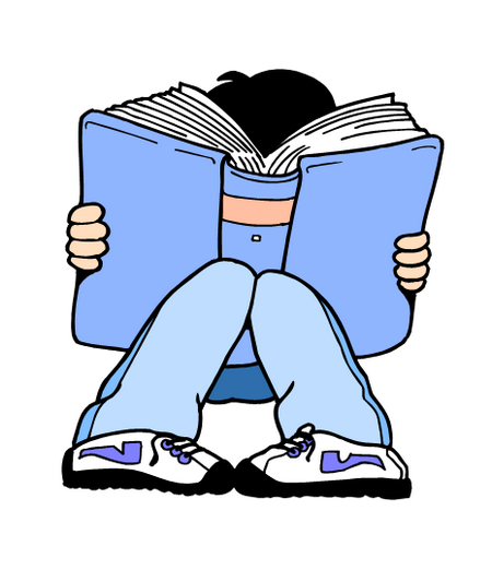 450x522 Student Thinking Girl Reading Clipart Clip Art Library