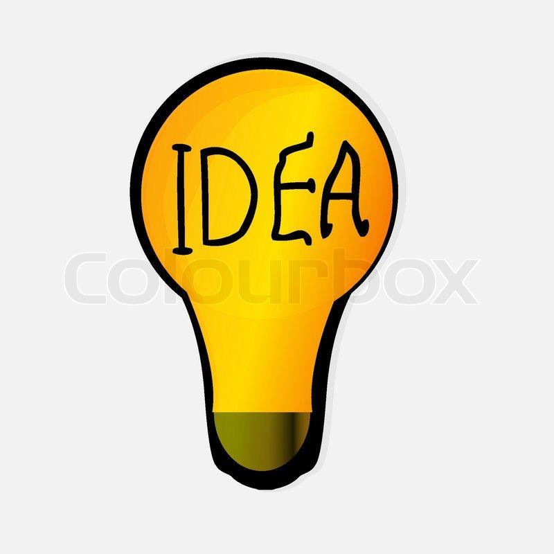 800x800 Light Bulb Idea Stock Vector Colourbox
