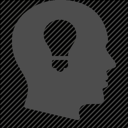 512x512 Business, Head, Idea, Light Bulb, Man, Thinking Icon Icon Search