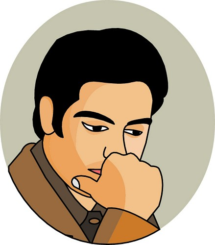 439x500 Person Thinking Man Thinking Clipart