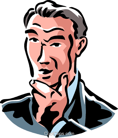 409x480 Man Thinking Royalty Free Vector Clip Art Illustration Vc061361