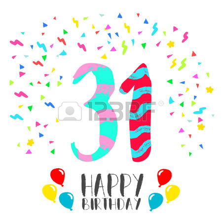 450x450 Happy Birthday Number 61, Greeting Card For Sixty One Year