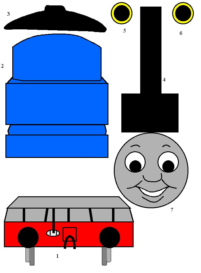 It is a picture of Monster Thomas the Train Images Free