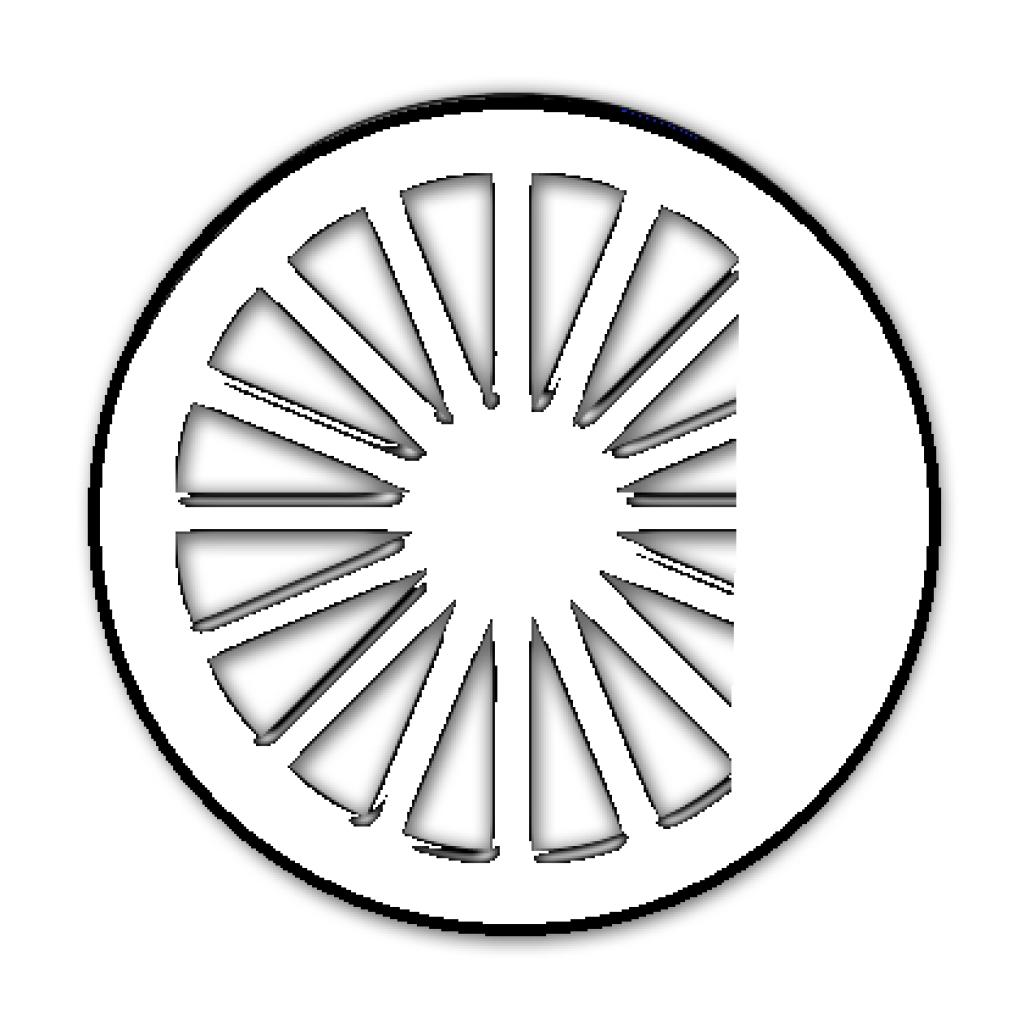 1024x1024 Thomas Train Wheel Clip Art Craftulate Hd Vektor Free Train Wheel