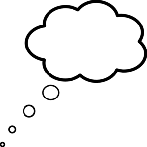 300x300 Cloud Thought Scaled Clip Art