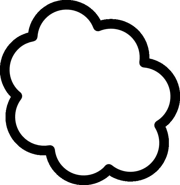 582x598 Thought Cloud 2 Clip Art