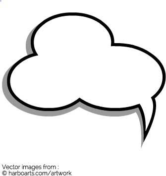 335x355 Bubble Clipart Cloud Outline