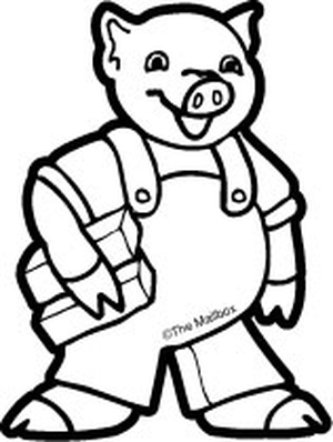 300x398 Little Pig Clipart Black And White