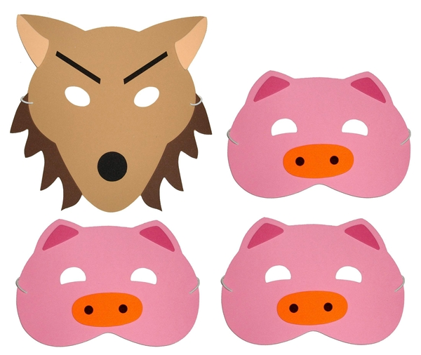 600x506 Three Little Pigs Storytelling Props Storybag
