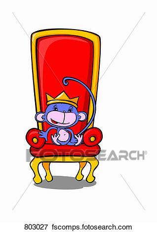 318x470 Clip Art Of A Monkey Sitting On A Throne Wearing A Crown 803027