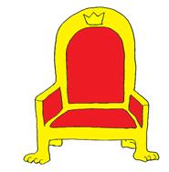 185x189 Throne Clipart Simple