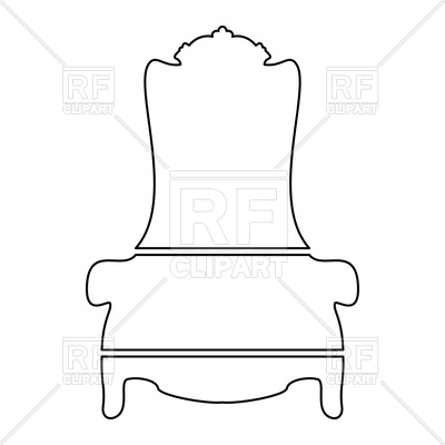 400x400 Throne Outline On White Background