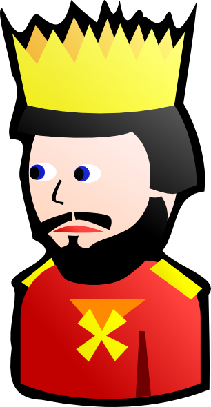 306x590 King Sitting On Throne Clipart