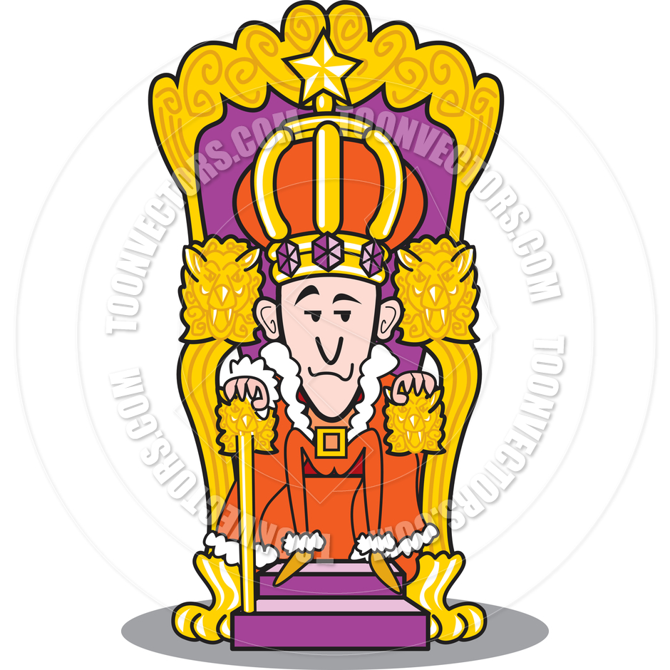940x940 Cartoon King On Throne Vector Illustration By Clip Art Guy Toon