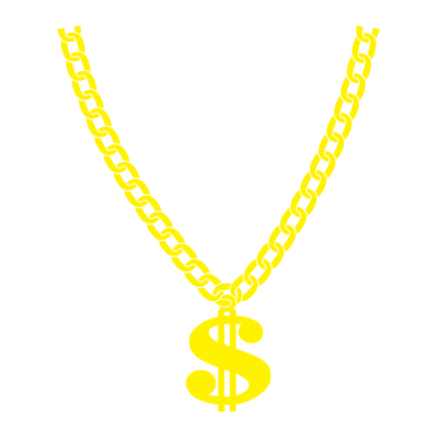 400x400 Necklace Clipart Thug Life