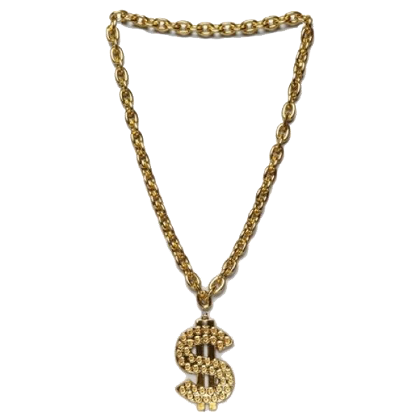 600x600 Thug Life Gold Chain Transparent Png Png Mart