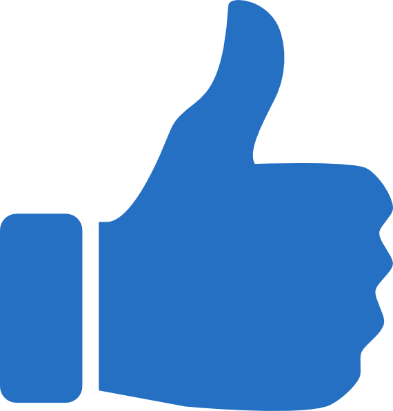 570x597 Thumbs Up In Blue Clip Art At Clker Vector Clip Art Online