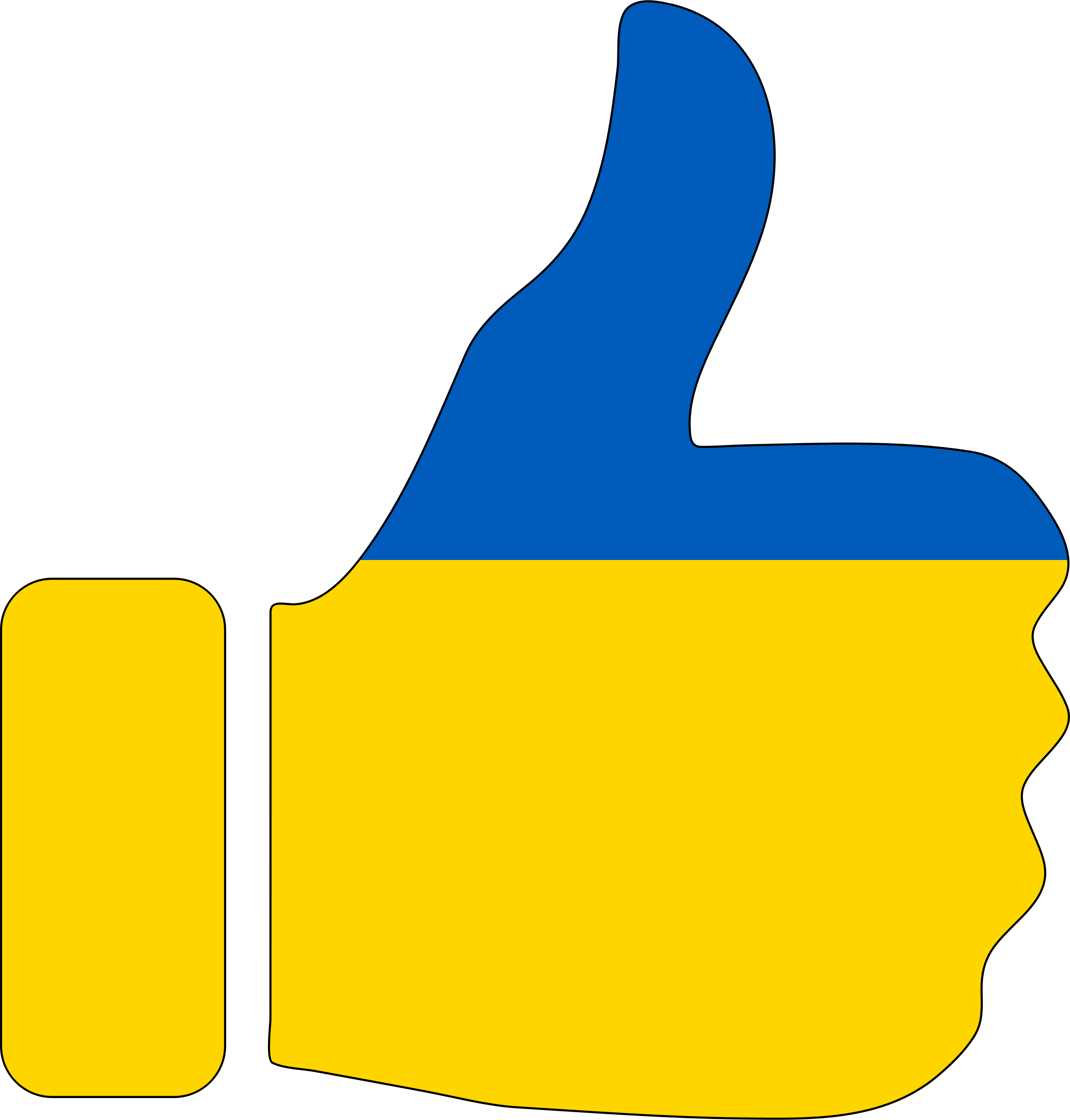 2196x2300 Thumbs up Clip Art