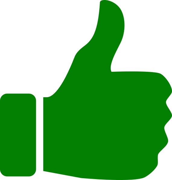 570x597 Thumbs up icon green th Clip Art