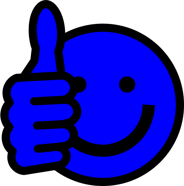 594x601 Blue Thumbs Up Clip Art