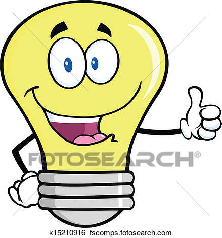 439x470 Clip Art of Light Bulb Giving A Thumb Up k15210916