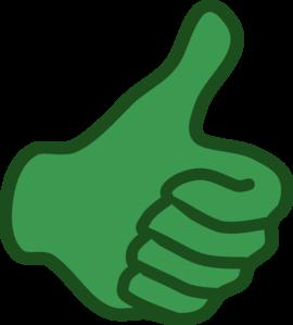 270x299 Green Thumbs Up Clip Art