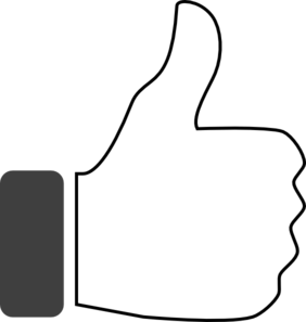 282x297 Black And White Thumbs Up Clip Art