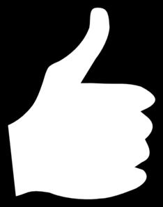 234x298 White Thumbs Up Clip Art