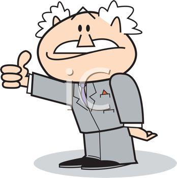 348x350 Cartoon Boss Giving The Thumbs Up