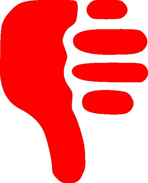 480x594 Thumbs Down Clip Art