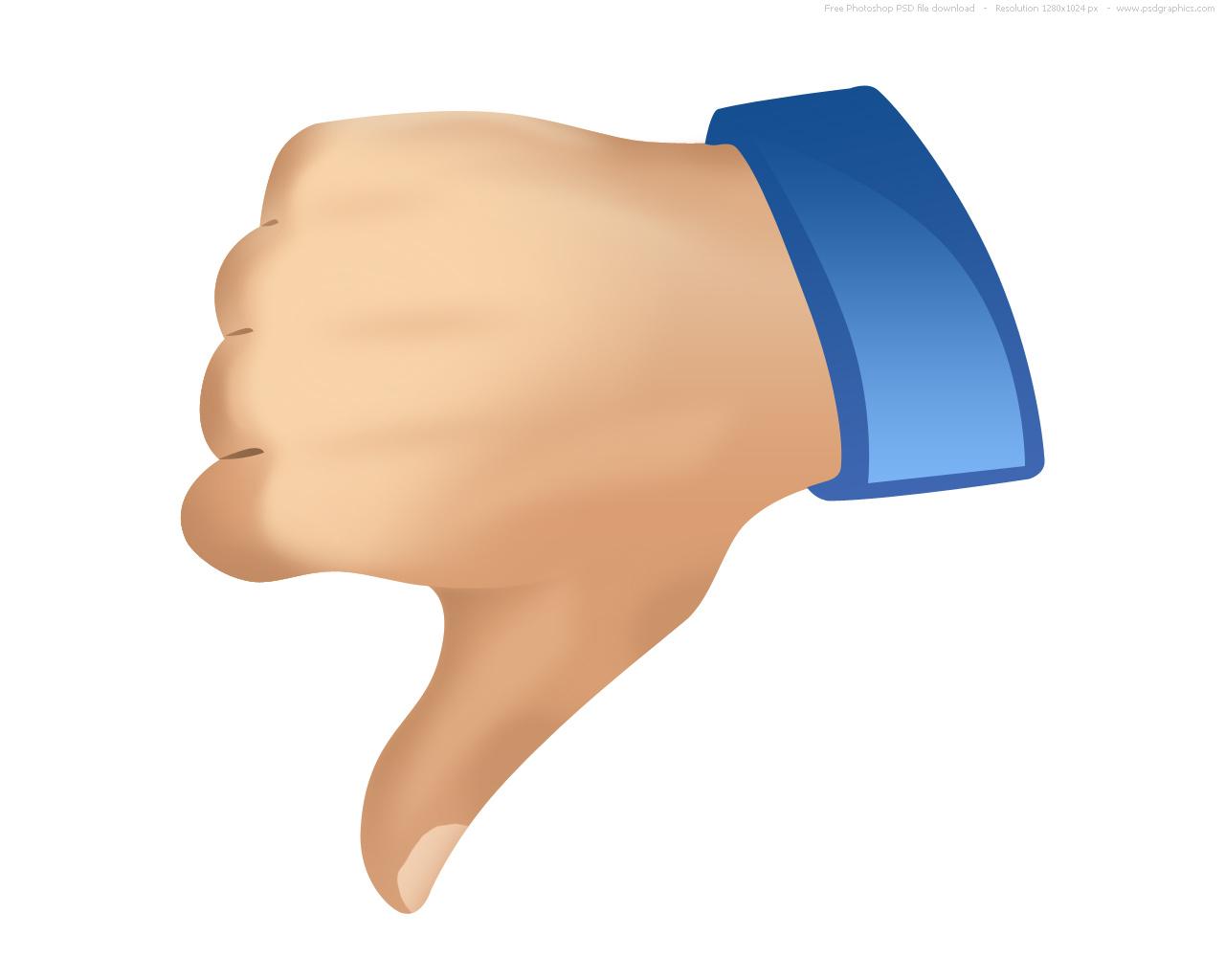 1280x1024 Facebook Thumbs Down Clipart