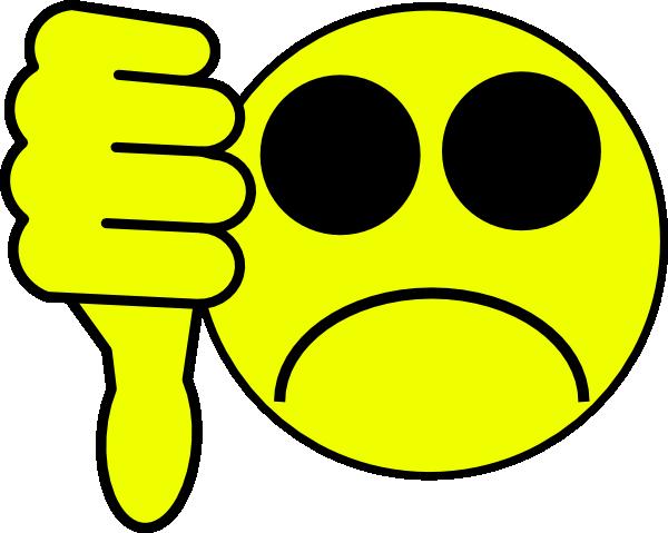 600x479 Sad Face Thumbs Down Clipart