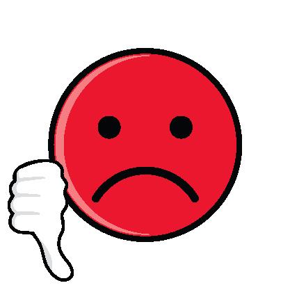 417x417 Sad Face Thumbs Down Clipart