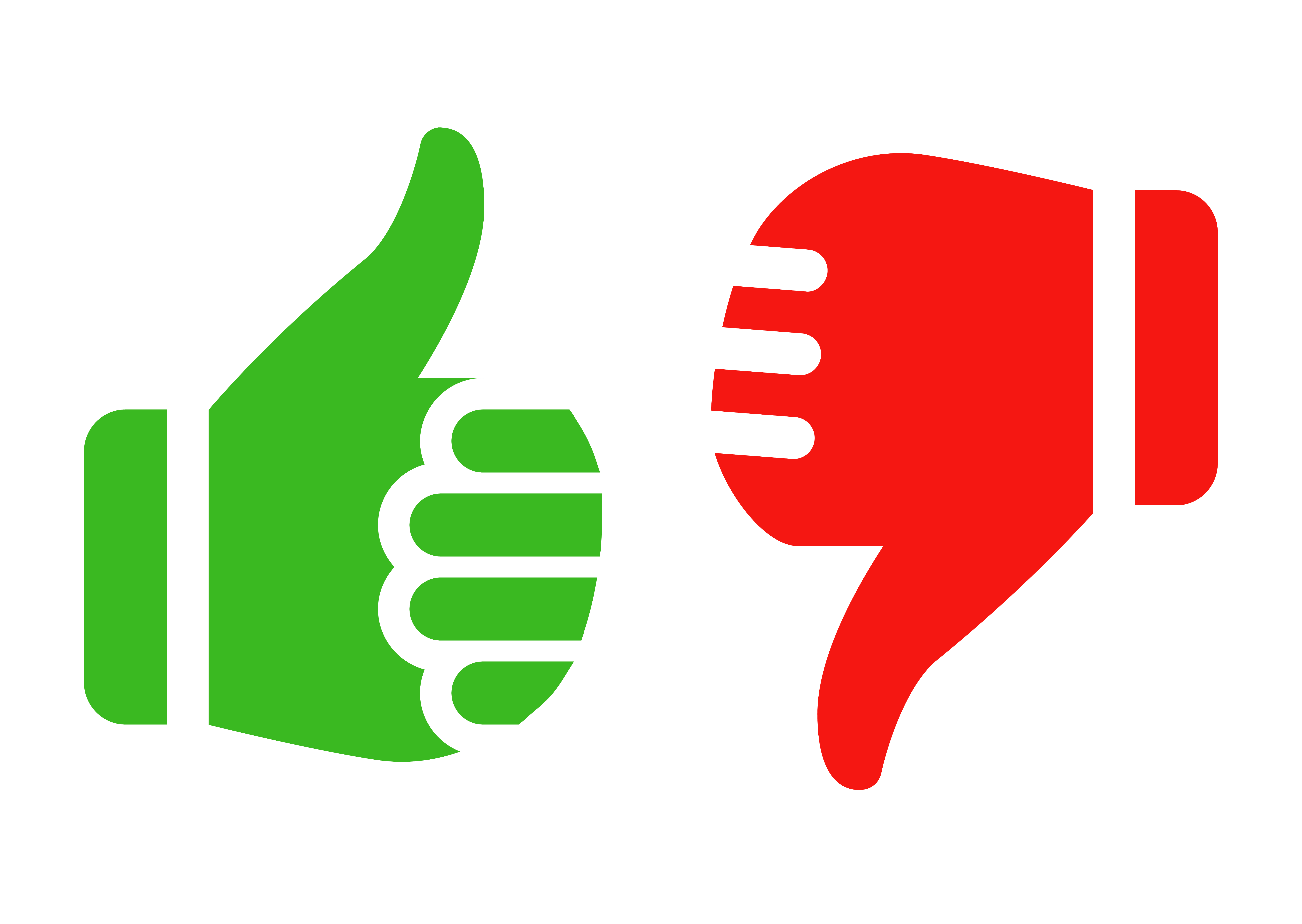 7000x4968 Thumbs Up Thumbs Down Clipart