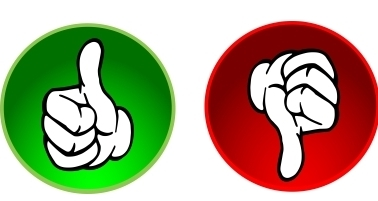 378x201 Thumbs Up Thumbs Down Clipart