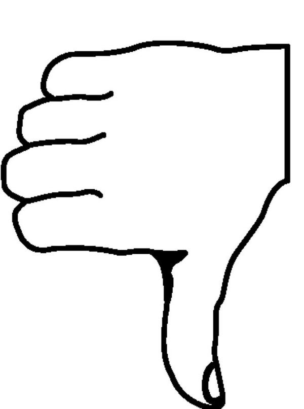 600x806 Thumbs Down Outline Clipart