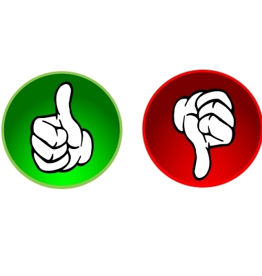 380x400 Thumbs Up Thumbs Down Pic Clipart