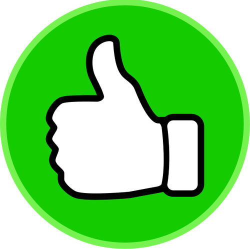 500x498 10576 Free Thumbs Up Vector Icon Public Domain Vectors
