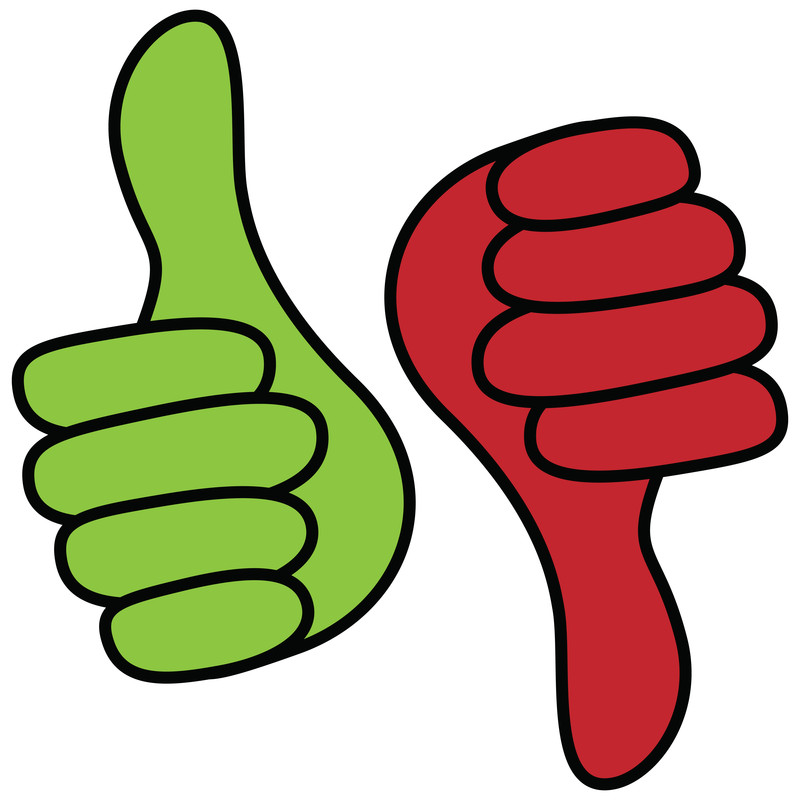 800x800 Clipart Of Thumbs Up And Thumbs Down