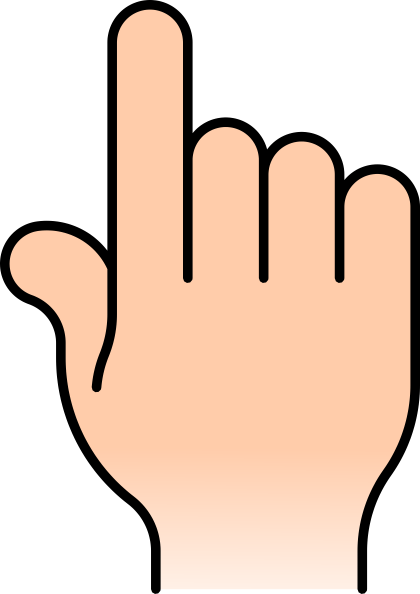 420x594 Finger Pointing Clipart